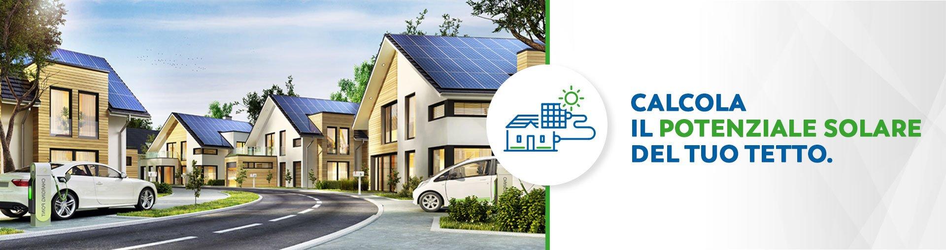SB energetica calcolo potenziale solare del tetto Energie rinnovabili risparmio economico impianti fotovoltaici solare termico sistemi di accumulo colonnine elettriche led