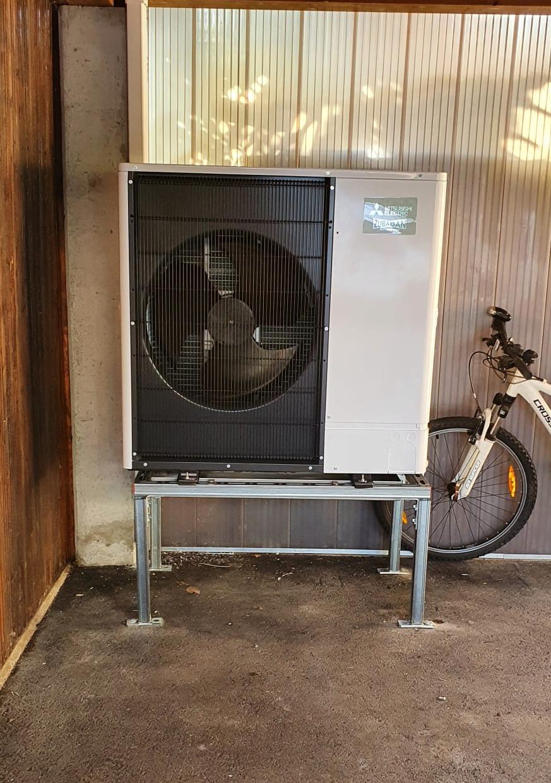 Riscaldamento con termopompa aria acqua a Cugnasco Gerra